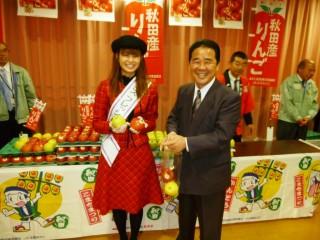 『ミスりんご』小松有沙さんと